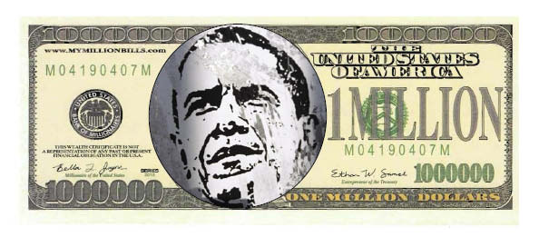 OBAMAFRONT ONLY MILLION DOLLAR BILL