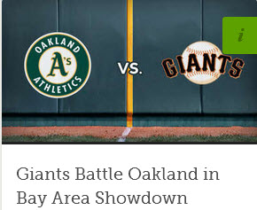 GIANTS - A'S 1 PM